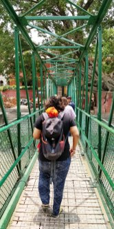 Walking towards temple