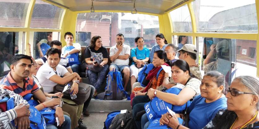 Chit chat in bus