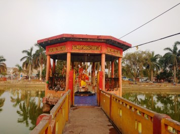 Shiv temple on small pond