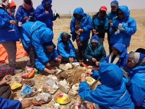 Preparation for havan at Mansarovar
