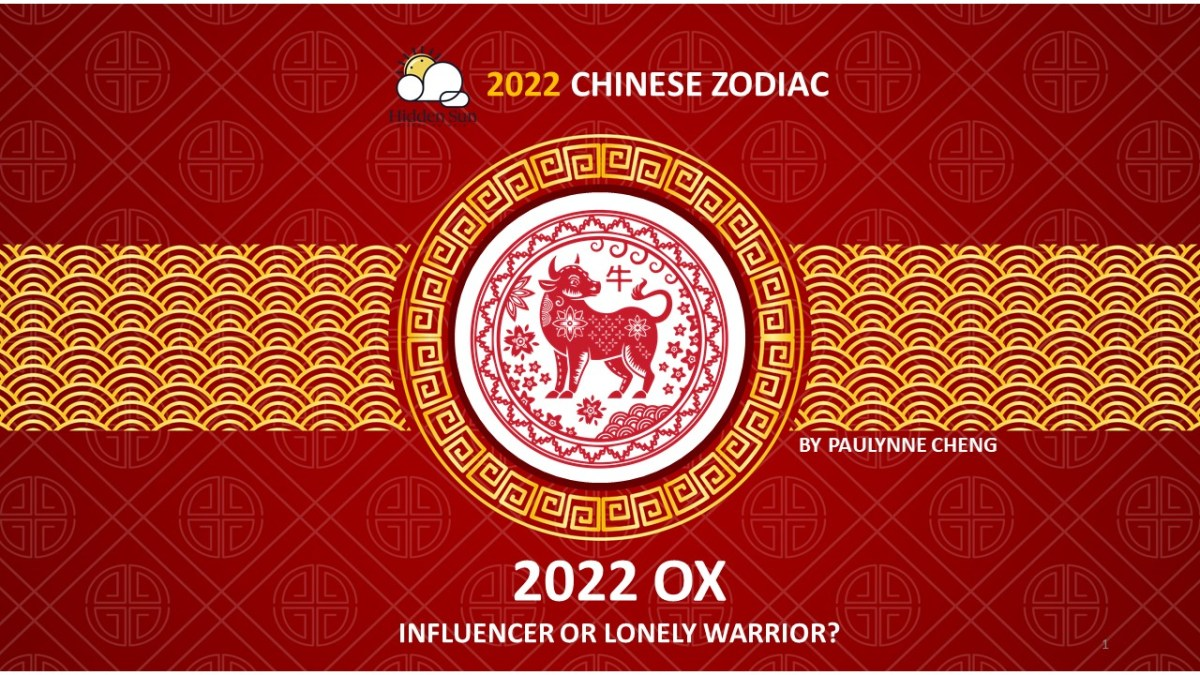 CHINESE ZODIAC 2022: OX