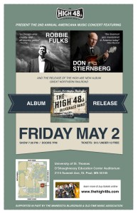 The High 48s - Great Northern Railroad Album Release Poster