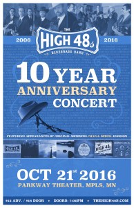 The High 48s 10-Year Anniversary Concert – Fri. Oct. 21st at the Parkway Theater