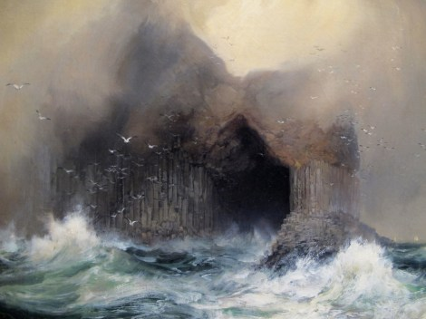 Thomas Moran, Fingal's Cave, detail, 1884, oil on canvas