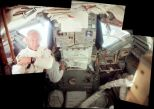Composite image of Buzz Aldrin and the interior of the Eagle lunar module (Photo: Photo: Jon Hancock/NASA)