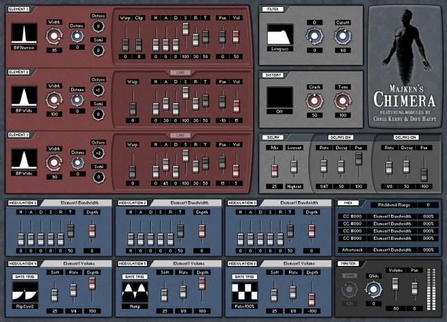 Chimera is a noise driven synth focusing on pads and haunting leads