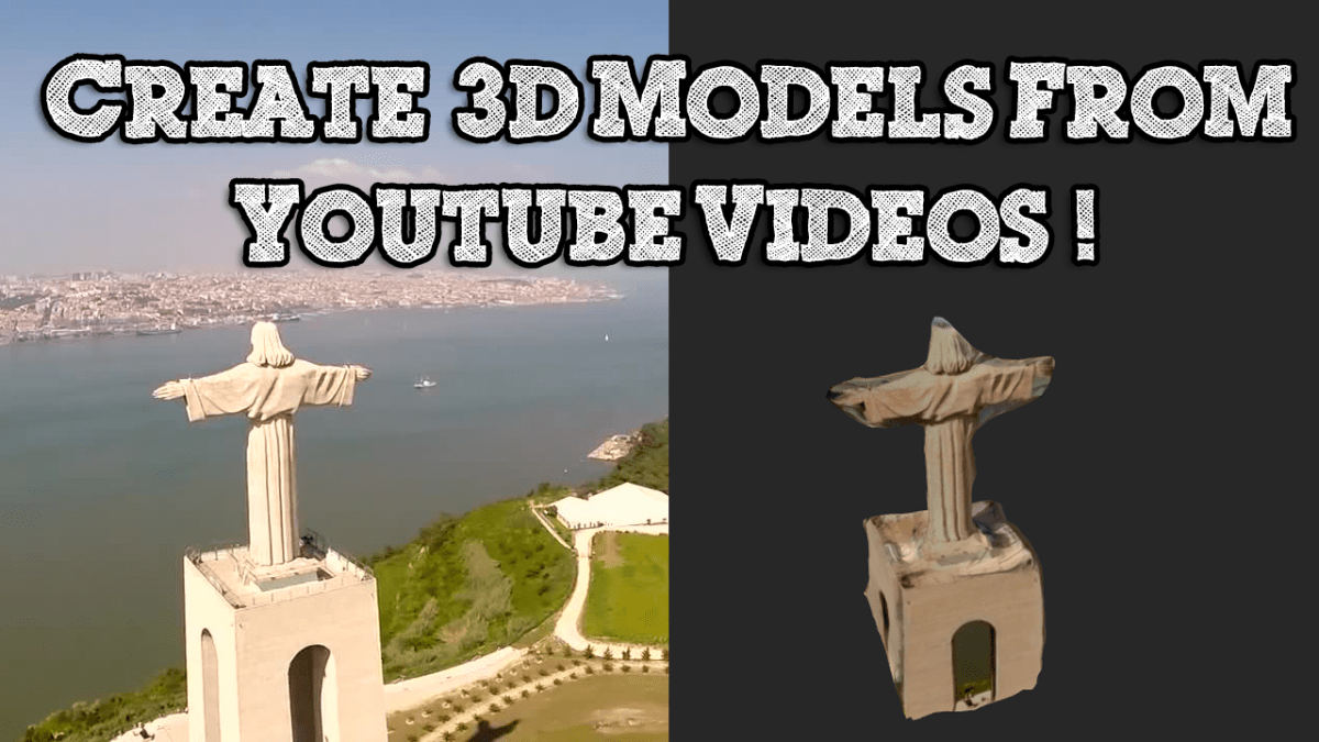 How to Create a 3D Model From any Youtube Video using Photogrammetry