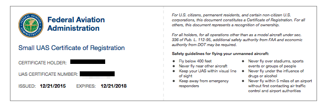 Example Drone License