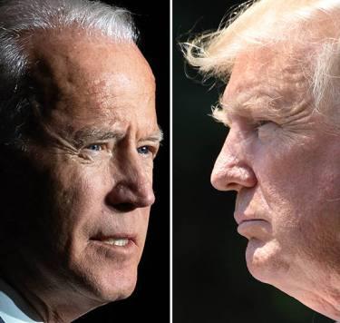 Images of Joe Biden and Donald Trump.