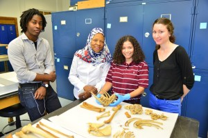 Left to Right: Cameron Clarke, Dr. Fatimah Jackson, Dr. Carlina De la Cova, Jessie Tompkins (Photo Credit: www.cobbresearchlab.com)