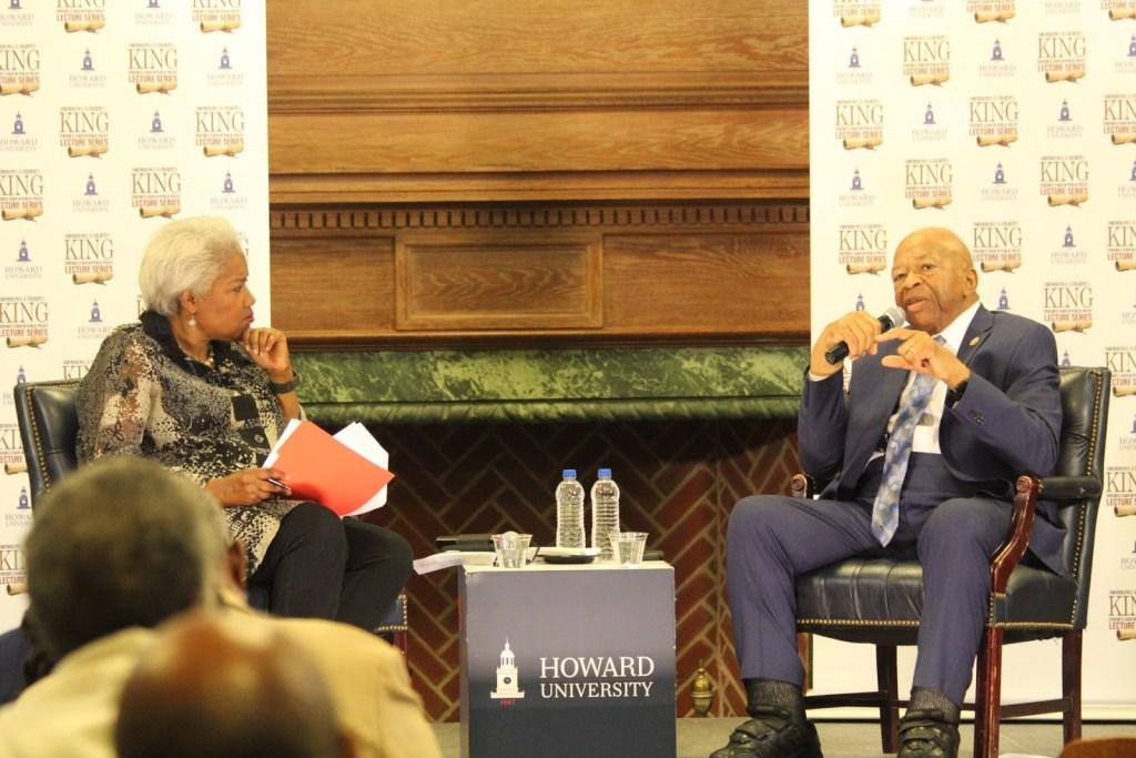 Donna Brazile Hosts Rep. Elijah Cummings at Howard Lecture