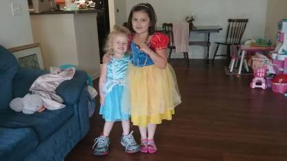 5-20-17 Victoria and Lili playing dressup