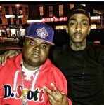 Fred The Godson And Nipsey Hustle On Fred The Godson Instagram