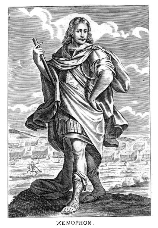 Depiction of Xenophon, ancient Greek historian. From Thomas Stanley, c. 1655, [Public Domain] via Creative Commons.jpg