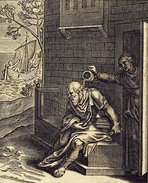Socrates and Xanthippe, illustrated by Otto van Veen (1556–1629), [Public Domain] via Creative Commons.jpg