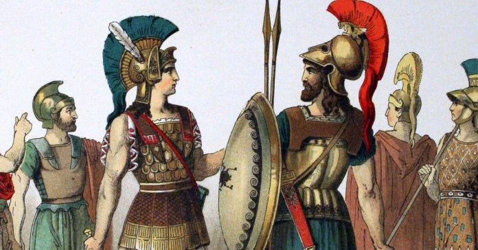 social media crop of Ancient Greek costumes painted by Albert Kretschmer, painters and costumer to the Royal Court Theatre, Berin, and Dr. Carl Rohrbach [Public Domain] via Creative Commons.jpg