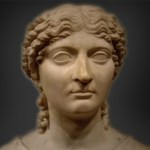 social media cropped and modified 1st-century bust said to be of Agrippina the Younger, [Public Domain] via Creative Commons