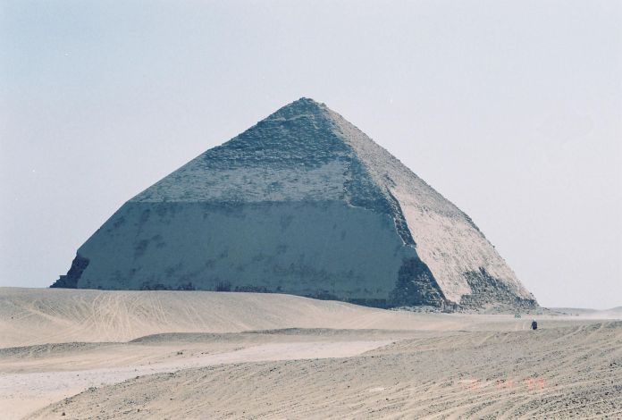 Bent Pyramid of Snefru, [Public Domain] via Creative Commons and public-domain-image.com