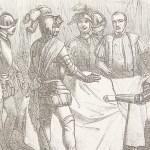 social media crop Hernan Cortes and Panfilo Narvaez depicted in the Historia de la conquista de Méjico, 1851, [Public Domain] via Creative Commons
