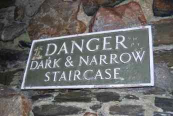 dark and narrow staircase