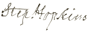 Stephen Hopkins Signature