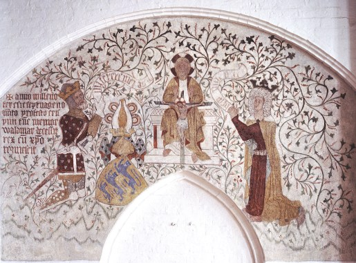 Fresco of Valdemar Atterdag and his wife
