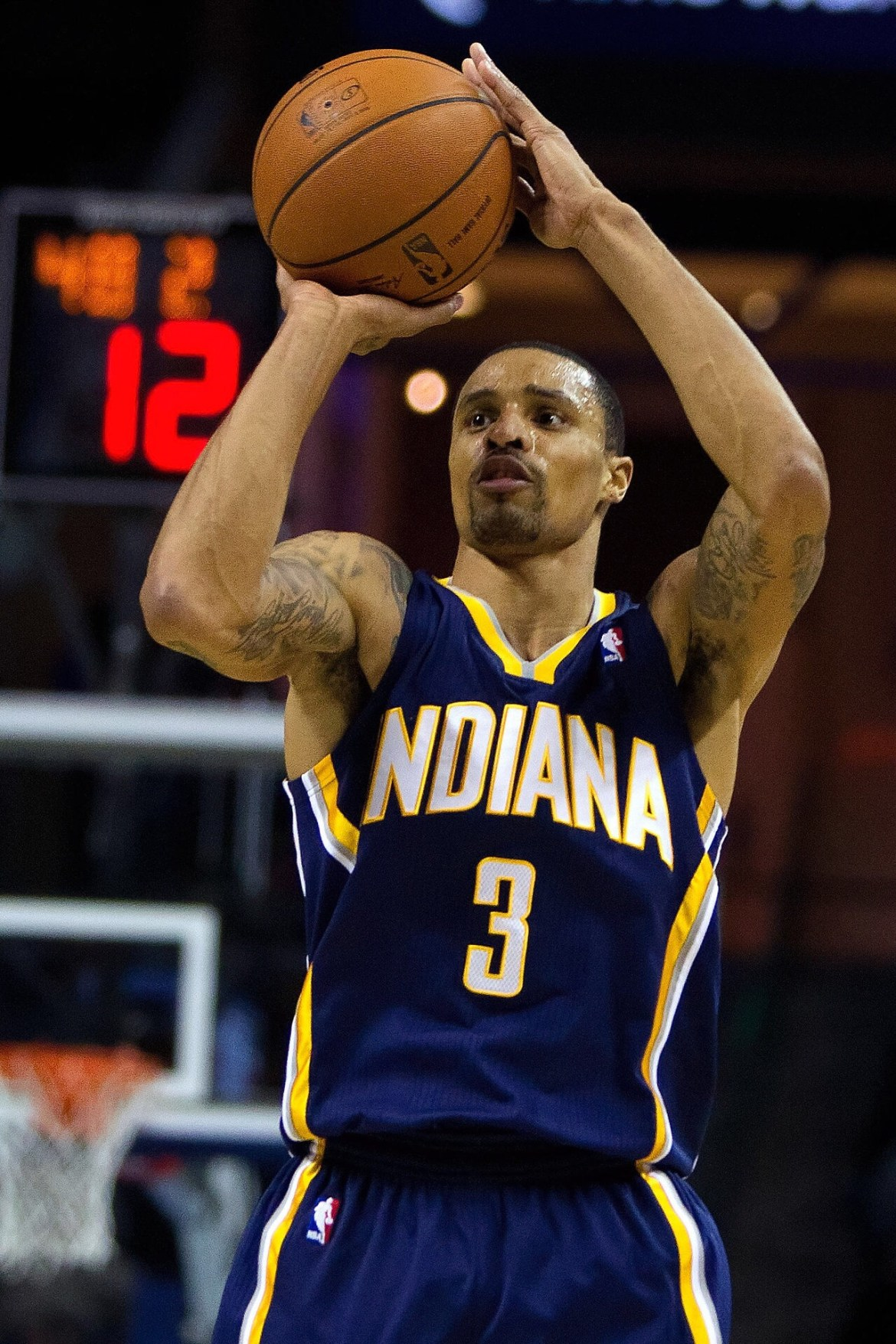 George Hill Pacing the Jazz