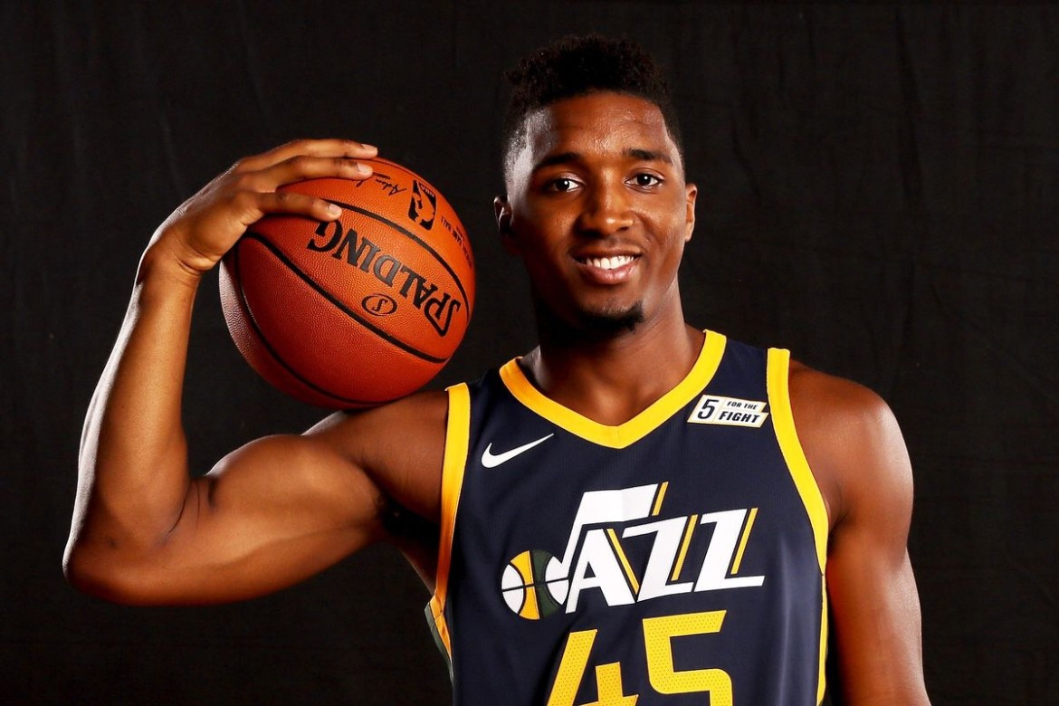 Donovan Mitchell soaring above Defenders and all Rookies