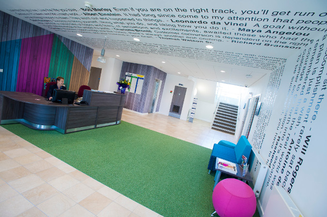 Reception area at The Hive