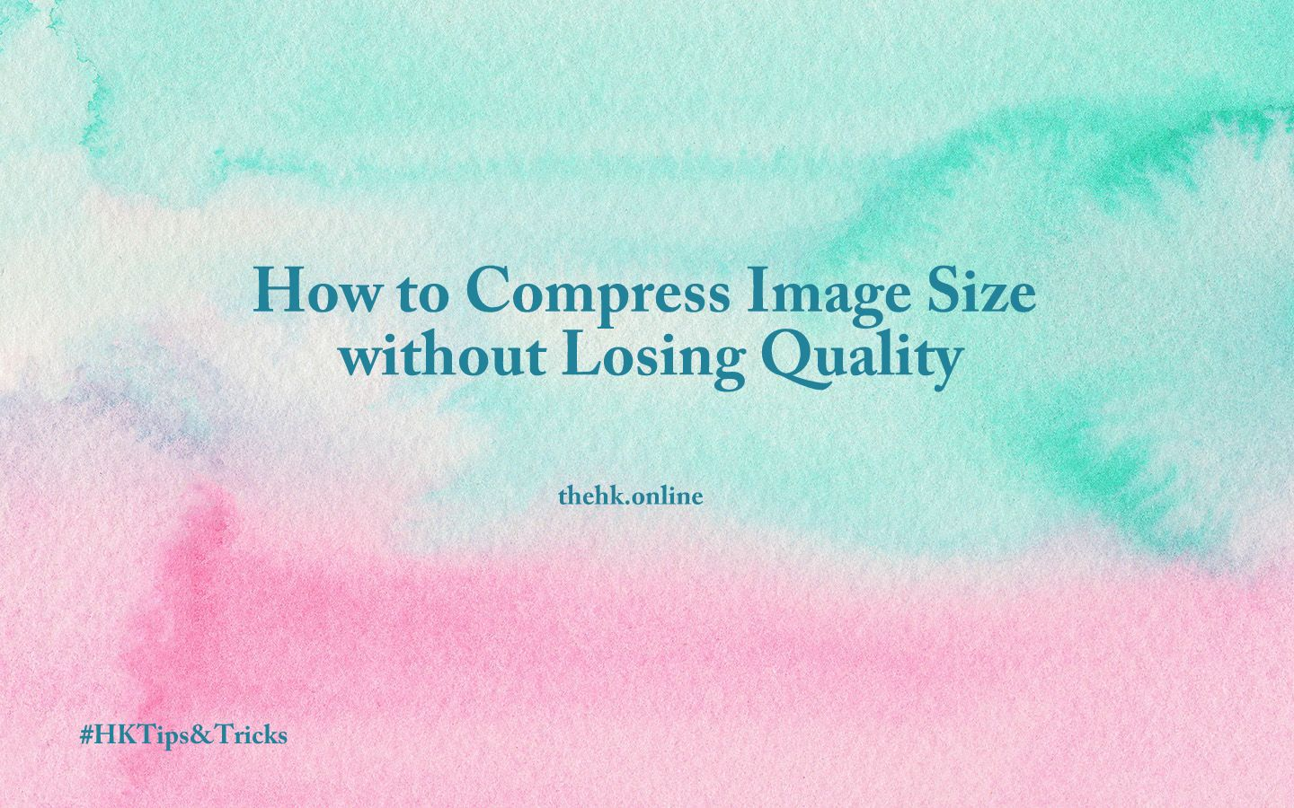How to compress image size, without loss of quality