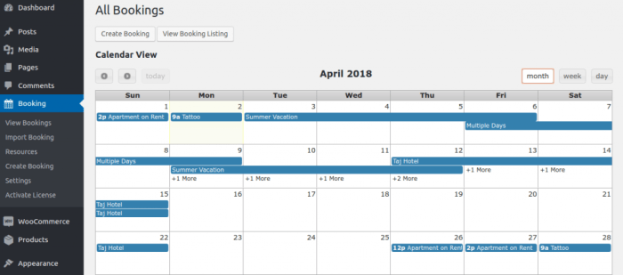 Bookings and Appointment Plugins for WordPress