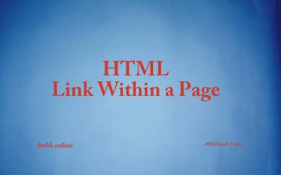 How to Link within a Page