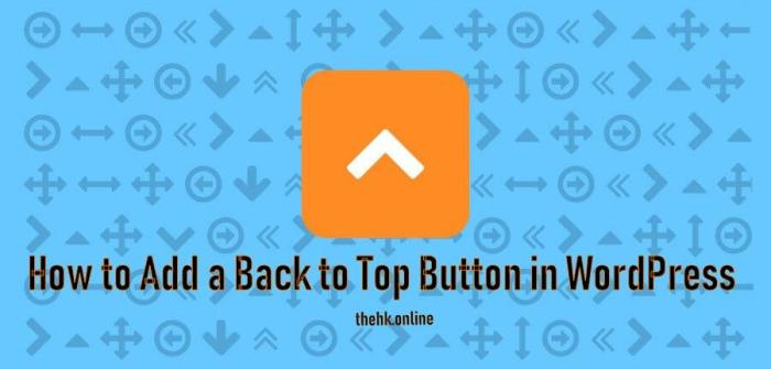 back to top button for wordpress
