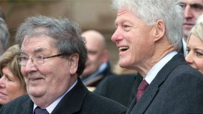 John Hume and Bill Clinton