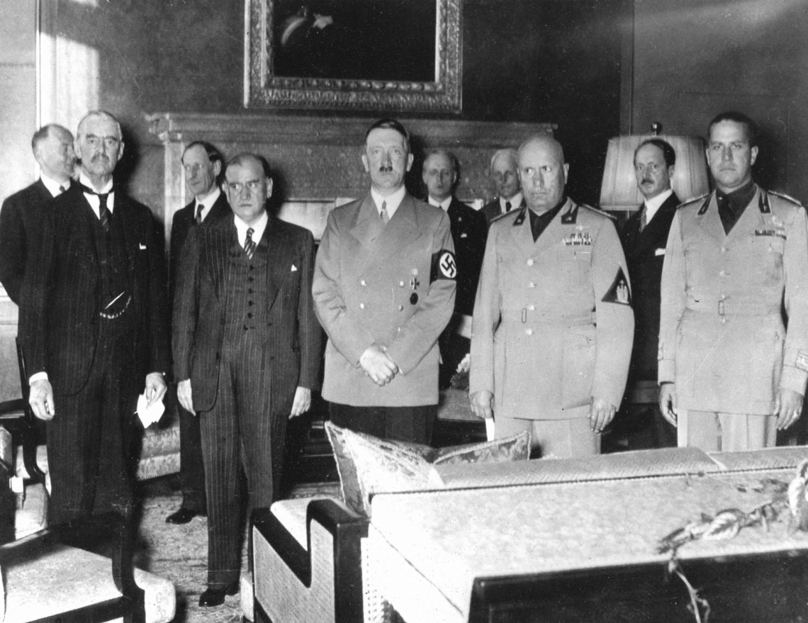 Neville-Chamberlain-Galeazzo-Ciano-Edouard-Daladier-Benito-September-1938