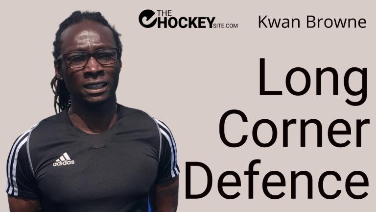 Long corner defence by Kwan Browne