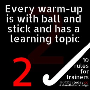 10 rules for trainers - rule 2
