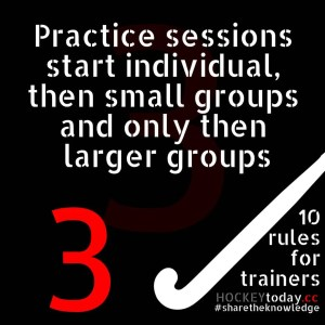 10 rules for trainers - rule 3