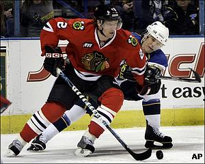 Duncan Keith is back in top form this season.  (AP Photo/Jeff Roberson)