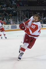 Red Wings captain Henrik Zetterberg is also cooling off with just 7 points in his last 15 games {JYSharky - Flickr}
