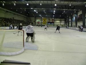 Day One of US Olympic Hockey Practice in Woodridge (photo courtesy of the author)