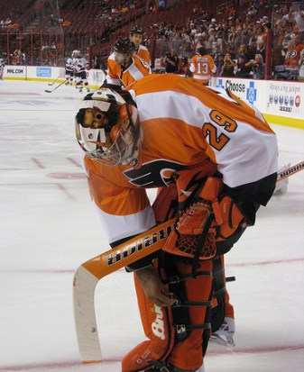 Ray Emery has quietly had a consistently great preseason though doubters will continue to chime in. (Image Credits: Neat1325)