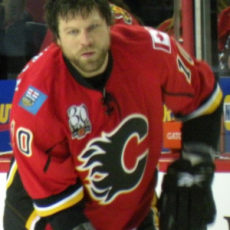 Flames EnforcerBrian McGrattan {Photo: Wikipedia Commons}