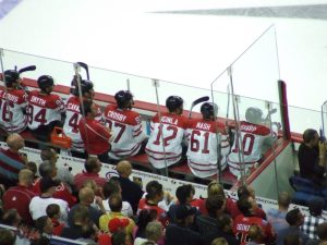 V4 at red/white Olympic scrimmage (photo by thehockeyguy/flickr)