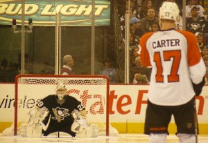 Flyers Carter Penguins Fleury