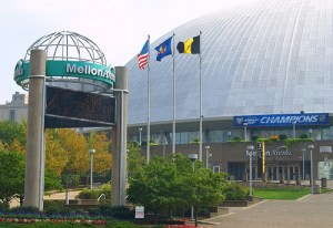 The Pittsburgh Penguins' former home, the Mellon Arena, will always have a place in team history. [Photo by *36*/Flickr]