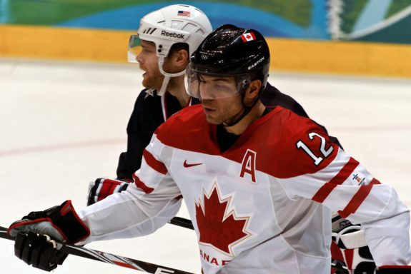 Iginla during the 2010 Vancouver Olympics.{Photoree - S. Yume}