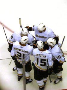 A gaggle of Ducks meets on the ice. (Matt Boulton/Flickr)