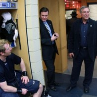 Terry Pegula became the owner of the Buffalo Sabres in 2011 and the team has seen financial stability since he took over. Here he visits the dressing room after becoming owner. (Icon SMI)