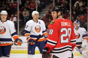 Jake Dowell (Blackhawks) 1/9/11 vs NYI